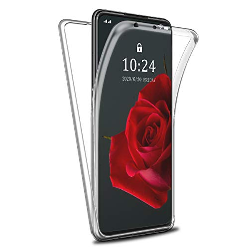 Reshias Funda para Huawei P Smart 2021, 360°Full Body Protección Suave TPU Silicona Delantero PC Dura Atrás Transparente Flip Protectora Carcasa para Huawei P Smart 2021 6.67''