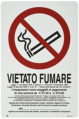 "Cart.""Vietato Fumare"" 30X20Pl"