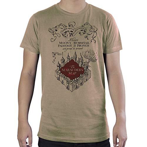 ABYstyle - Harry Potter - T-Shirt - Mappa del Malandrino - Sabbia - Uomo (XXL)