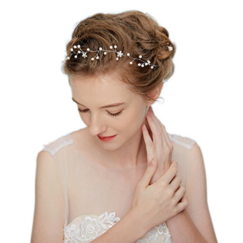 hopewey Strass Hochzeit Brautschmuck Braut Haarschmuck Strass Haarklammer Perlen Blumen Hochzeit Haarteile Crystal Strass Perlen Hochzeit Haarschmuck HWMD212