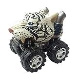 Wild Zoomies - Tigre Blanco de Deluxebase. Camiones Monstruo de Juguete impulsados