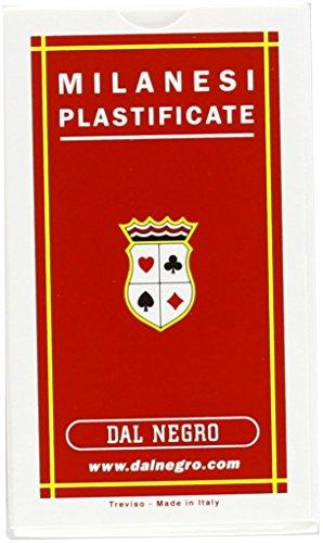 Dal Negro 10044 - Milanesi Carte da Gioco Regionali,  Astuccio Rosso