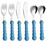 EXZACT - 6 pieza para niños cubertería - 2 x cena cuchillo, 2 x cena tenedor, 2 x cena cuchar (Oruga x 6)