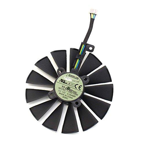 iHaospace 95MM T129215SM FDC10M12S9-C 4Pin 12V Graphics Card Cooler Fan for ASUS ROG Strix GTX 1050Ti 1060Ti 1070Ti 1080Ti RX 470 570 580 RX470 RX570 RX580 Grafikkarte Lüfter