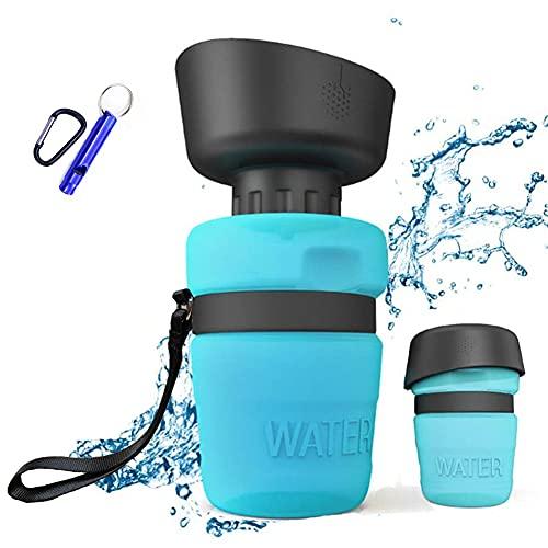 ZONSUSE Botella de Agua para Perro, Botella Portátil de Agua Potable para Mascotas al Aire Libre, Libre de BPA, Prueba de Fugas, para Viajes Aire Libre, Senderismo, Camping, 520ml (Rosado)
