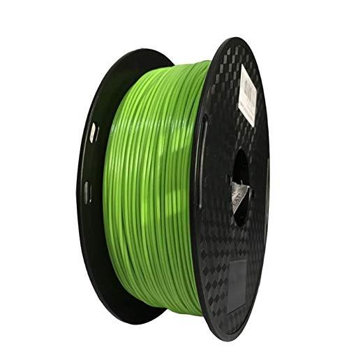 1kg PETG 3D Printing Filament, 1.75mm Popular Color, Plastic PETG Material, Tolerance +/- 0.02mm 3D Printer Supplies (Color : Green)