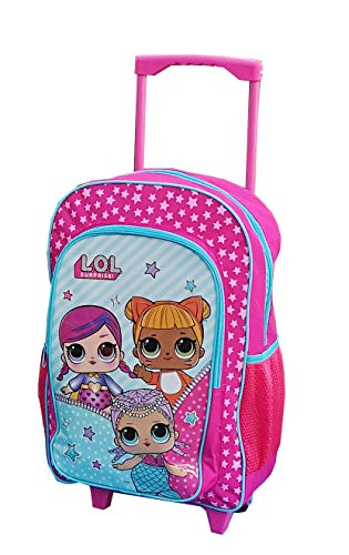 Kids Trolley Cabin Bag Suitcase with Wheels and Telescopic Handle - Ideal for Short Breaks, Holidays, sleepovers and School Trips (LOL Surprise)