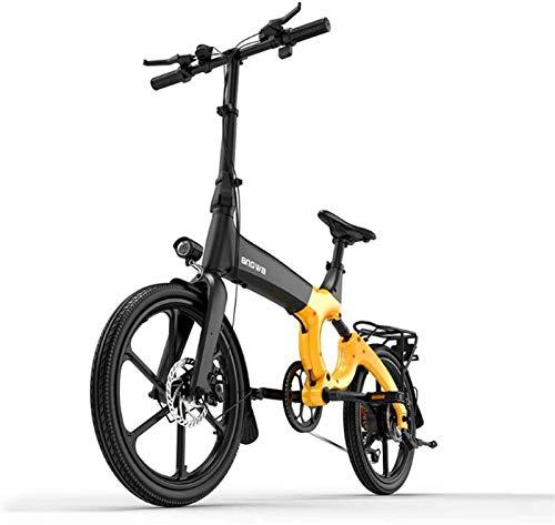 Bicicletas Eléctricas, Bicicleta eléctrica de montaña adulta, 384WH 36V batería de litio, aleación de magnesio 6 velocidades eléctricas Bicicleta eléctrica 20 pulgadas ruedas ,Bicicleta ( Color : C )