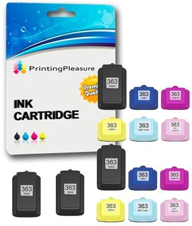 Printing Pleasure 14 XL Druckerpatronen für HP Photosmart 3110 3210 3210xi 3310 C5180 C6150 D6160 C6180 C6280 D7160 C7180 C7200 C7250 D7260 C7280 D7460 C8180 8250 | kompatibel zu HP 363
