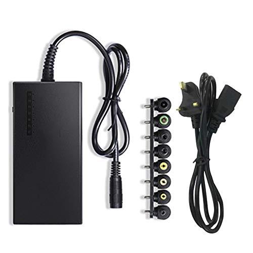 LIUPING Fuente de Alimentación Conmutada Adaptador CA 96W con 8 Piezas Adaptadores Cargador Corriente Computadora Portátil Voltaje Múltiple Universal Enchufe para Lenovo Sony Samsung Notebook