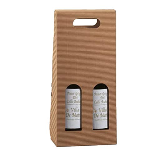 Caja botellas Onda avana - 1 botella - 180 x 90 x 385 mm - Tono sobre Tono