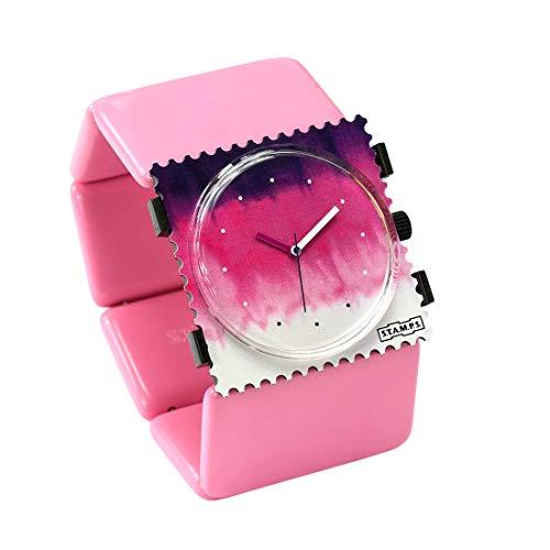 S.T.A.M.P.S. Stamps Uhr komplett - Zifferblatt Block Batik mit Belta Classic Rose