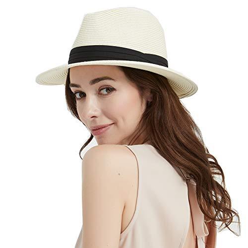 AHAHA Cappello Donna Estivo Cappello di Paglia Panama