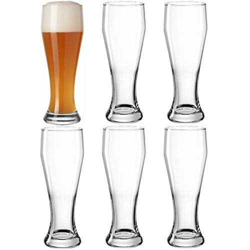 LEONARDO HOME 061359 Weizenbierglas 0,5l 6er Set, Glas