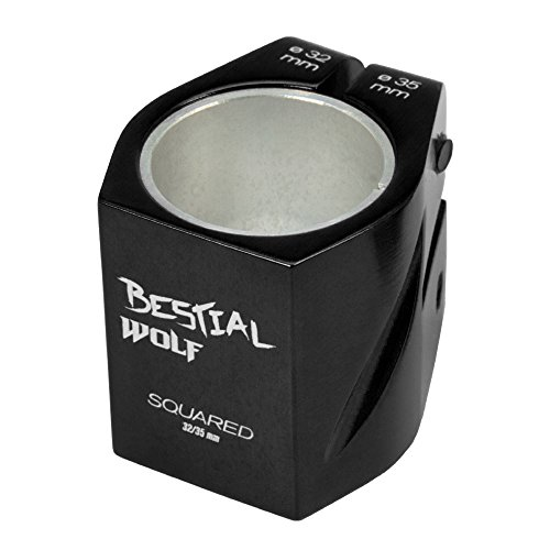 BESTIAL WOLF Nuevo Clamp 2 Tornillos Squared141, Color Negro, 32-35 mm