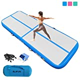 ALIFUN Premium Air Track 10ft 13ft 16ft 20ft Airtrack Gymnastics Tumbling Mat Inflatable Tumble Track with Electric Air Pump for Home Use/Gym/Yoga/Training/Cheerleading/Outdoor/Beach/Park Blue 10ft