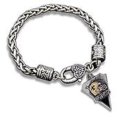 NEW ORLEANS SAINTS Charm Bracelet is Black & Gold Enamel with Raised FLEUR DE LIS Helmet.She will LOVE it. BELIEVE DAT:)