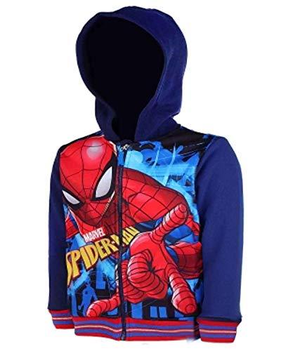 Jungen Spiderman Hooded Zip Kapuzenoberteil Pullover Jacken Alter 3 bis 8 Jahre