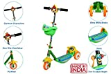 JoyRide Three Wheel Kick Scooter for Boys and Girls with Adjustable Height,Storage Basket