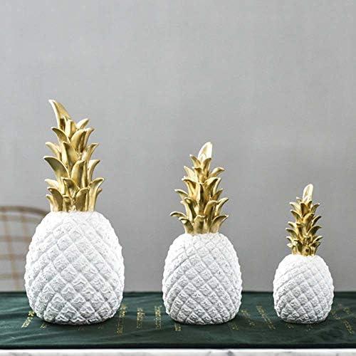 XYAM 1Pcs Resin Pineapple Decoration Household Decorative Pineapple Fashion Artificial Pineapple product image