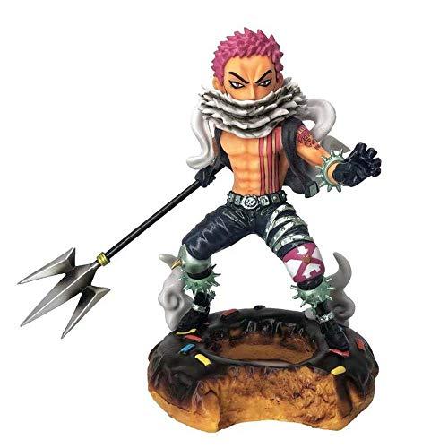 BECCYYLY Einteilig DREI süße Kommandeure Charlotte Katakuri Szene Action Figure-Sammlung Animierte Zeichen Modell 17,5 cm wmpa