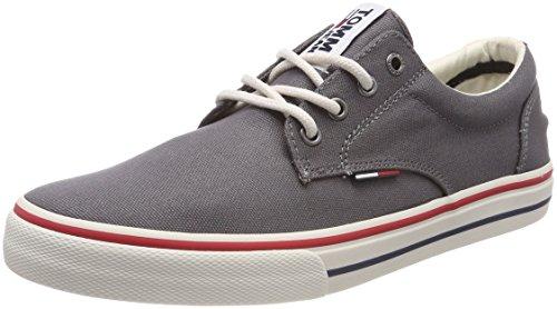Tommy Jeans Herren Textile Sneaker Turnschuh, Grau (039 / Steel Grey), 45 EU