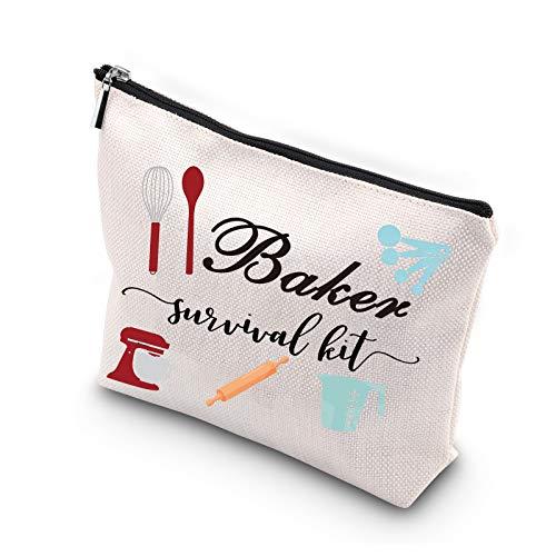 WCGXKO Baking Lover Gift Baker Survival Kit Portable Travel Accessories Toiletry Bag Makeup Bag