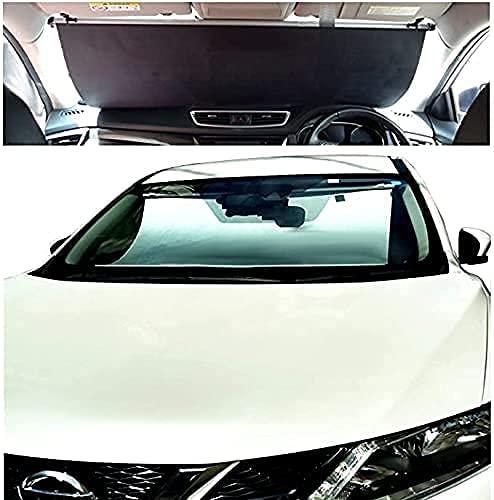 ShinShade 車用 サンシェード 常時取付型 フロントガラス アルト ミラ MRワゴン等軽自動車 日除け 駐車 車...