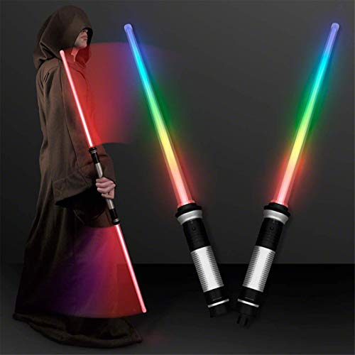 Y&Z Juguete Luminoso Sable de luz, 7 Colores de Sonido de simulación de Sable de luz telescópico para niños, Juguetes, Espada, para niños, Adultos, Navidad, Fiesta, Cosplay