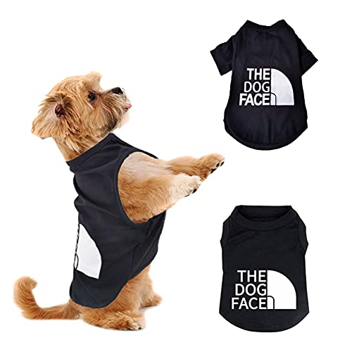 2-Pack 100% Cotton Dog T-Shirts Breathable Stretchy Costumes - French Bulldog Clothes - Dog Clothes for Medium & Large Dogs Boy,Dog Shirt Fit for Boxer, Chow Chow, Dachshund