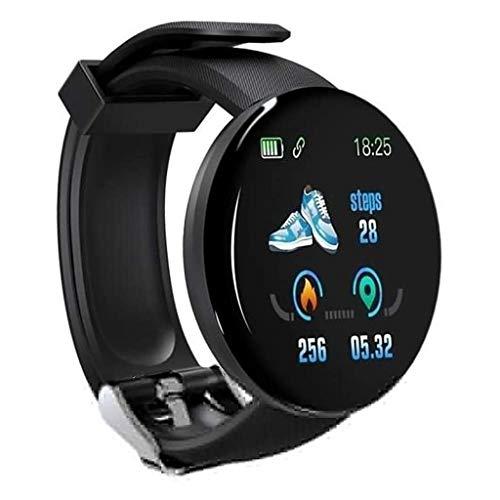 Sweet Reloj Deportivo, Multifuncional Ver 1.3Inch TFT Color De La Pantalla del Reloj Inteligente IP65 Resistente Al Agua, Apoyo Llamada Recordatorio,Negro
