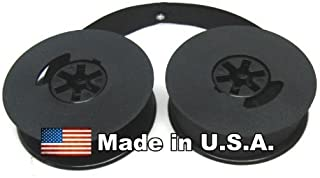 Universal Typewriter Ribbon - 1/2 Inch Black Ink Twin Spool Fresh and New Fabric Ribbon Eyelets