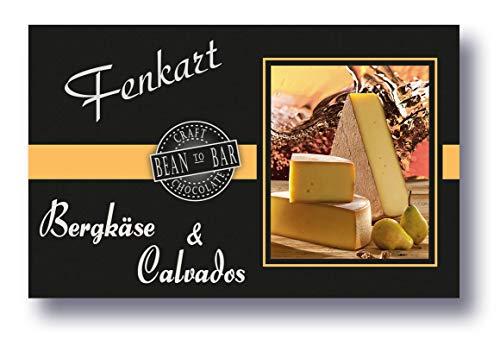 Bergkäse Mit Calvados Schokolade 1x 80g - Fenkart Schokoladengenuss - Gefüllte 'Bean to Bar' Schokolade - Vom Bodensee aus Vorarlberg