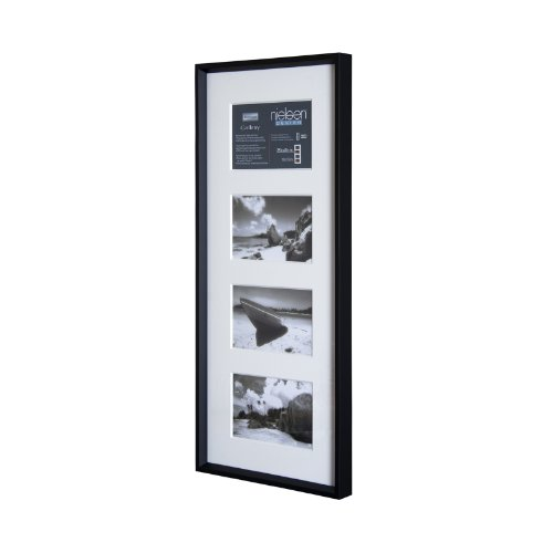 Bilderrahmen von Nielsen - Alurahmen Gallery F) 25x60 /, Schwarz matt - Normalglas
