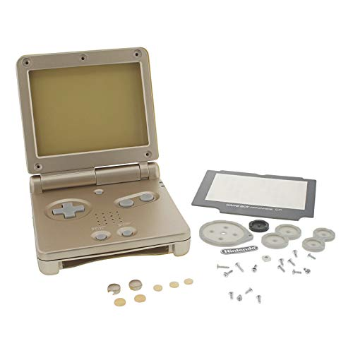 Photo of Housing shell kit for Nintendo Game Boy Advance SP replacement – Starlight Gold | ZedLabz