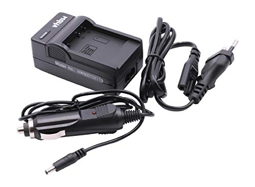 vhbw Ladegerät Netzteil Ladekabel inkl. KFZ-Lader für Panasonic Lumix DMC-LX5, DMC-LX7 wie Akkutyp DMW-BCJ13, DMW-BCJ13E.
