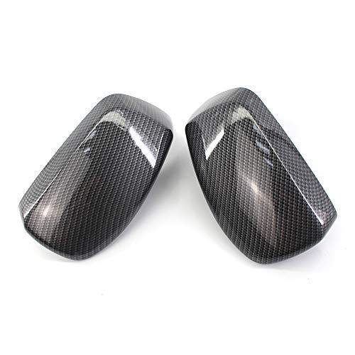 XZANTE De Fibra de Carbón Cáscara del Espejo de Marcha Atrás Cáscaras de Retrovisores para BMW 5 Series E60 E61 E63 E64 2004-2008 51167078359 51167078360