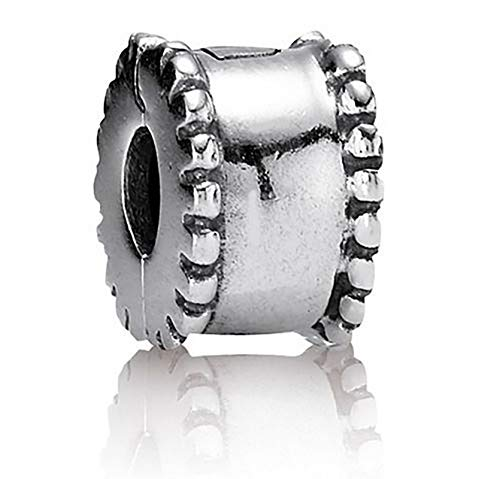 Beads R Us  - Genuine Solid Sterling Silver Clip and Lock Classy Cotton Reel Charm Clip/Bead/Stopper. Compatible with all European style Charm Bracelets and Necklaces.