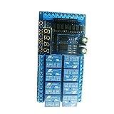 Módulo de relevo 12V 8 CANAL RELAY PRO MINI Cable PLC Reemplazo para el interruptor de temporizador de retardo de Arduino Blue azul