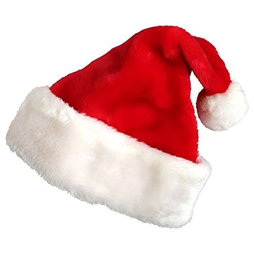 sknonr Sombrero de la Navidad, Cap Ornamento Felpa, Sombrero Adulto, Adecuado for los Trajes de Fiesta de Navidad