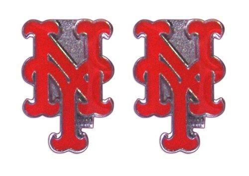 Aminco International New York Mets Post Stud Logo Earring Set MLB Charm