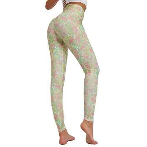 QTJY Pantalones de Yoga Transpirables y de Secado rápido Leggings elásticos de Cintura Alta Leggings Deportivos para Correr al Aire Libre E S