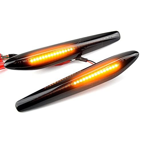 ZMMWDELuces LED de posición dinámica Lateral Luces Intermitentes de señal de Giro...