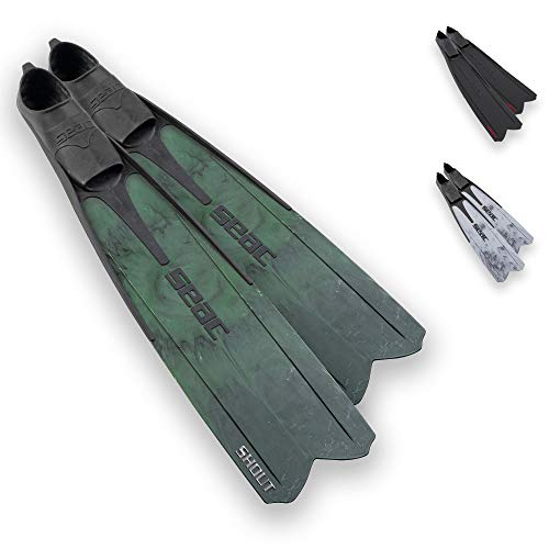 Seac Shout Camo S700, Long Fins for Scuba Diving, Spearfishing and Freediving