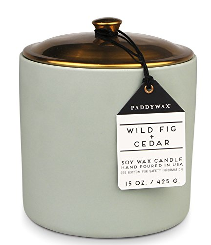 Paddywax Candles HY1504Z Hygge Collection Scented Candle, 15-Ounce, Wild Fig + Cedar