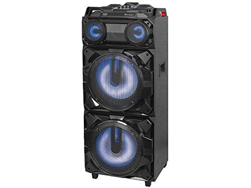 Trevi XFEST XF 3800 PRO Altoparlante Amplificato con Ruote, MP3, USB, Bluetooth e Batteria Integrata, Karaoke Party Speaker con Microfono incluso