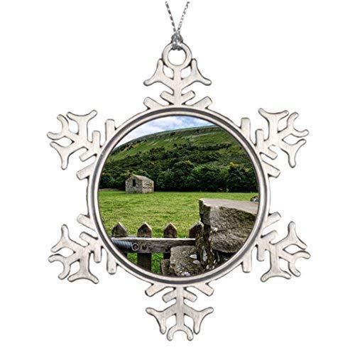 Muker Meadows Picture Christmas Snowflake divertenti ornamenti 7,6 cm