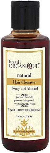 Glamorous Hub Khadi Organique - Limpiador de cabello con miel y almendras (champú), paquete de 1 (el paquete puede variar)