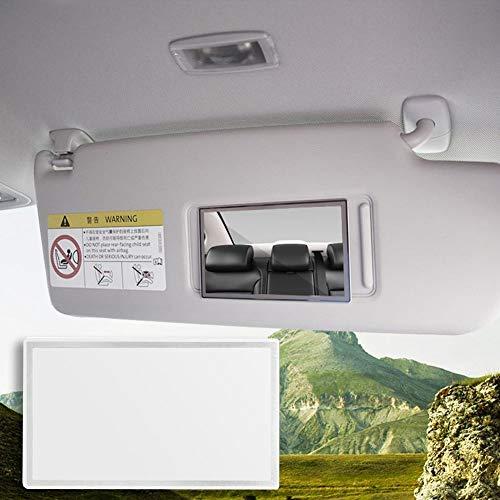 WUYANSE Espejo de cosmética para automóviles Espejo de tocador Autoadhesivo de Acero Inoxidable Espejo de Maquillaje de Autos portátiles para Visera y Asiento Trasero para automóvil, 110X65 mm