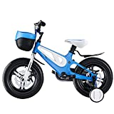 WYYY 12, 14, 16, 18 Pulgadas De Marco De Aleación De Magnesio Bicicleta Ligera Para Niños Adecuada Para Niños Y Niñas De 3 A 10 Años De Edad, Bicicletas Con 2 Manos Y Estabiliza(Size:18in,Color:negro)